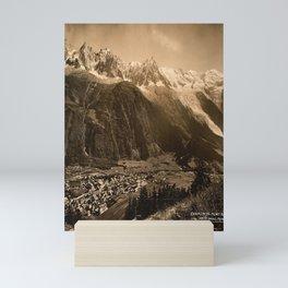 cartel chamonix mont blanc haute savoir Mini Art Print