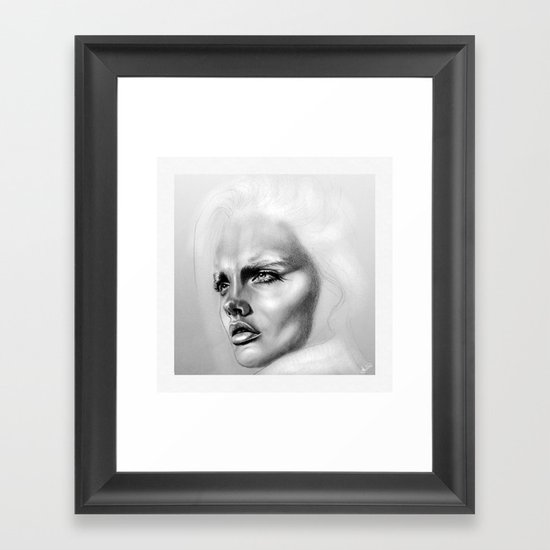 + DEEP + Framed Art Print