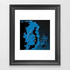 Jazz singer Framed Art Print