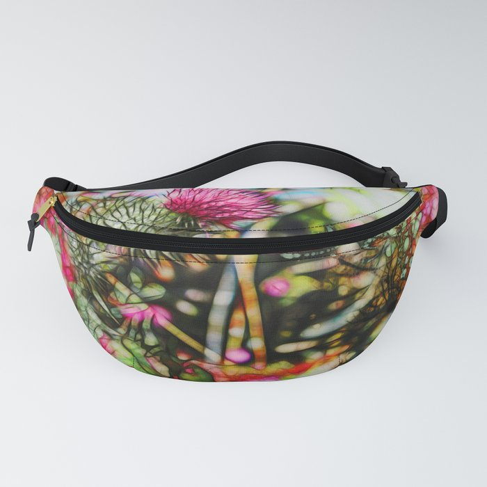 Vibrant abstract  thistle Fanny Pack
