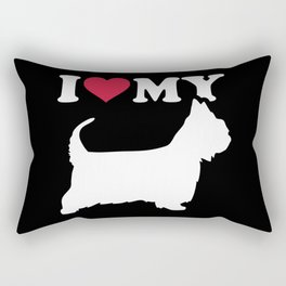 I love my Australian Silky Terrier Rectangular Pillow