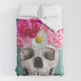 Ornate skull Comforters
