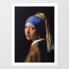 Lego: Girl with a pearl earring Art Print
