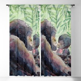 Gorilla and Baby Blackout Curtain