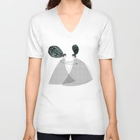 best friend V-neck T-shirts featuring Best friend by yael frankel