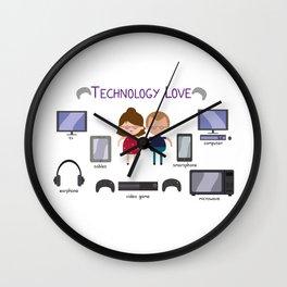 Technology Love Wall Clock