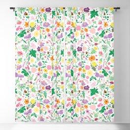 Cottage Garden Floral Print Blackout Curtain