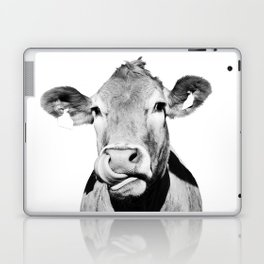Cow photo - black and white Laptop & iPad Skin
