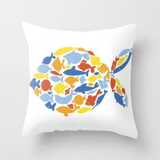 fish of fishes Throw Pillow