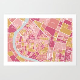 Bangkok map Art Print