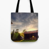 tennessee Tote Bags featuring Tennessee Sunset by Terbo