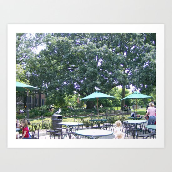 Beautiful Day For Lunch Outside Art Print