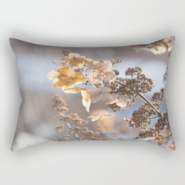 Sunlight through Dried Flowers Rectangular Pillow