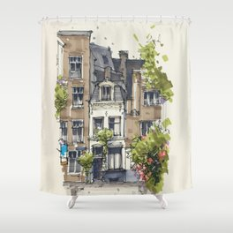 Residential house along Amsterdam canals Shower Curtain