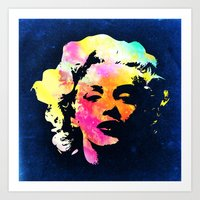 marilyn Art Prints featuring Marilyn by Fimbis