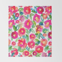 Hot Floral Mess Throw Blanket
