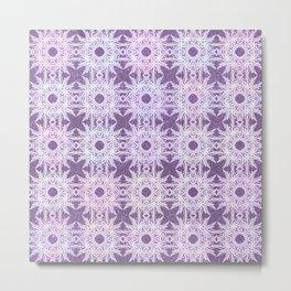 Dusty Purple Seashells Pattern Metal Print