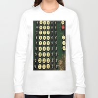 numbers Long Sleeve T-shirts featuring Numbers by Hazel Bellhop