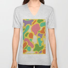What About Blob? Brights Unisex V-Neck