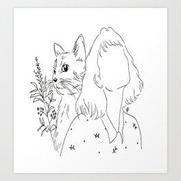 cat lovers Art Print