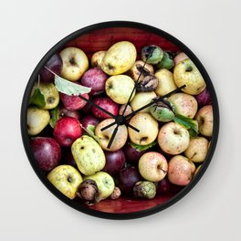 Mele | Apples Wall Clock