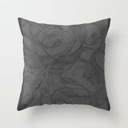 Draggin Flys - I have the actual hand printed and signed prints for sale still. Unframed $40.00 Throw Pillow