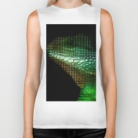 scales Biker Tanks featuring Digital Scales by DeScepter