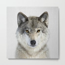 Wolf 2 - Colorful Metal Print