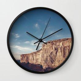 Malta's Cliffs | Aerial Wall Clock