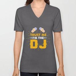 In the DJ - techno, DJing, disco Unisex V-Neck