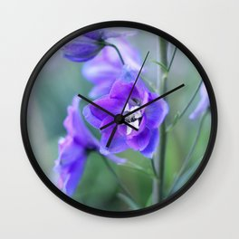 Delphinium Flower - Up Close Wall Clock