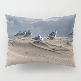Waiting Gulls on Top of A Sand Dune Pillow Sham