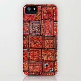 V5 Red Traditional Moroccan Design - A3 iPhone Case