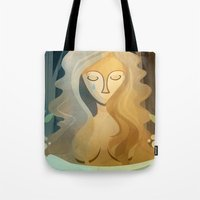 pagan Tote Bags featuring Sad Pagan by Anniz