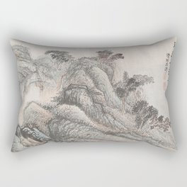 Outing to Zhang Gong's Grotto Rectangular Pillow