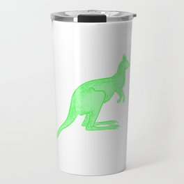 Bright Green Kangaroo Travel Mug