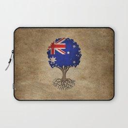 Vintage Tree of Life with Flag of Australia Laptop Sleeve