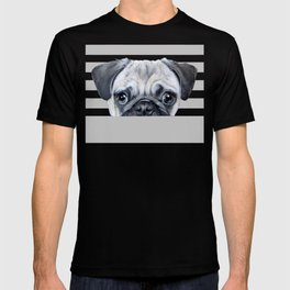 pug Dog illustration original painting print T-shirt