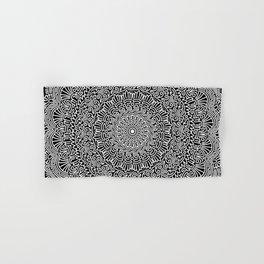 Aztec mandala   [black & white] Hand & Bath Towel