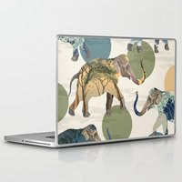 polka Laptop & iPad Skins featuring Elephant Polka by Paula Belle Flores