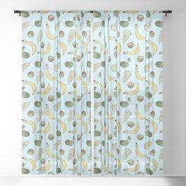 Fruit Pattern Sheer Curtain