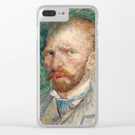 Vincent Van Gogh Self Portrait Clear iPhone Case