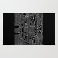 joy division Area & Throw Rugs featuring Millenium division by BomDesignz