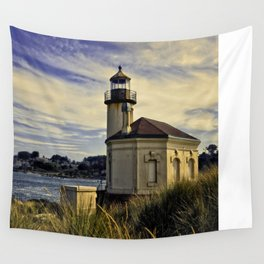 Oregon Coquille River Lighthouse - Watching The River Wall Tapestry