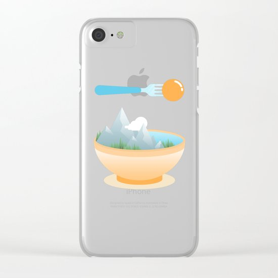 Eat the World Clear iPhone Case