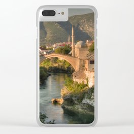 The Old Bridge of Mostar Clear iPhone Case