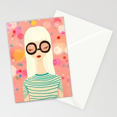 Girl with big glasses (II) Stationery Cards