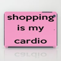 shopping iPad Cases featuring SHOPPING by I Love Decor