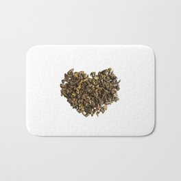 Dried and curled leaves of Oolong Bath Mat