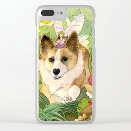 The Faerie and the Welsh Corgi Clear iPhone Case